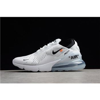 half off 0fd40 64e26 Off-White x Nike Air Max 270 White Black Men s Running Shoes Free Shipping