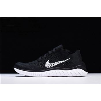 593a54b83b2 Nike Free Rn Flyknit 2018 Triple White Men s and Women s Running ...