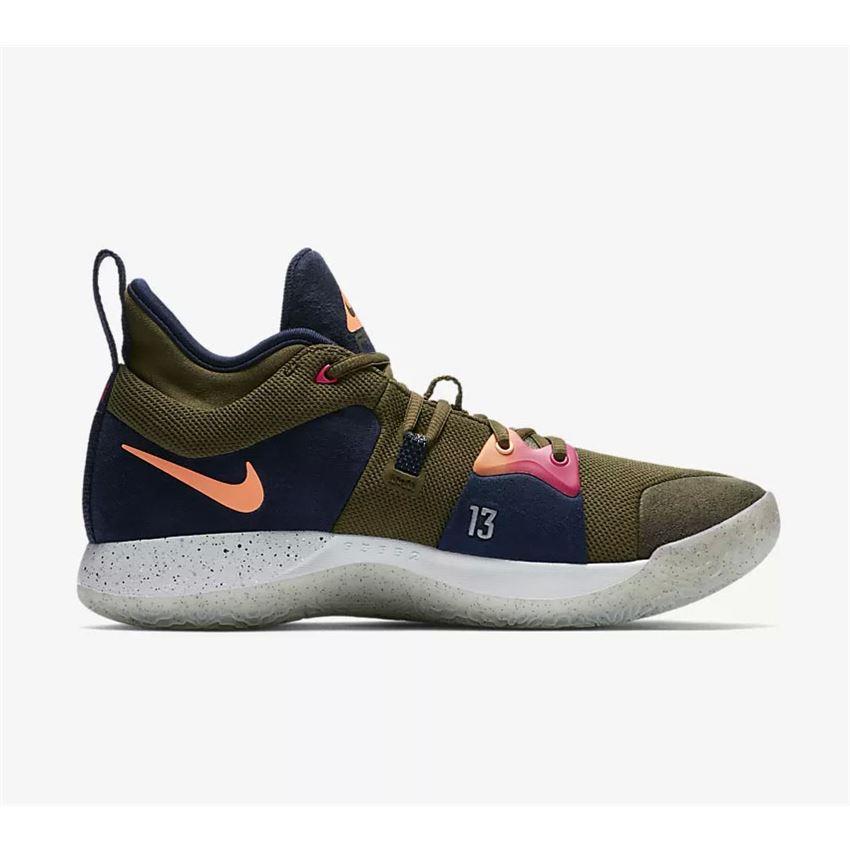 2018 Nike PG 2 ACG EP Olive Canvas Basketball Shoes Free ...
