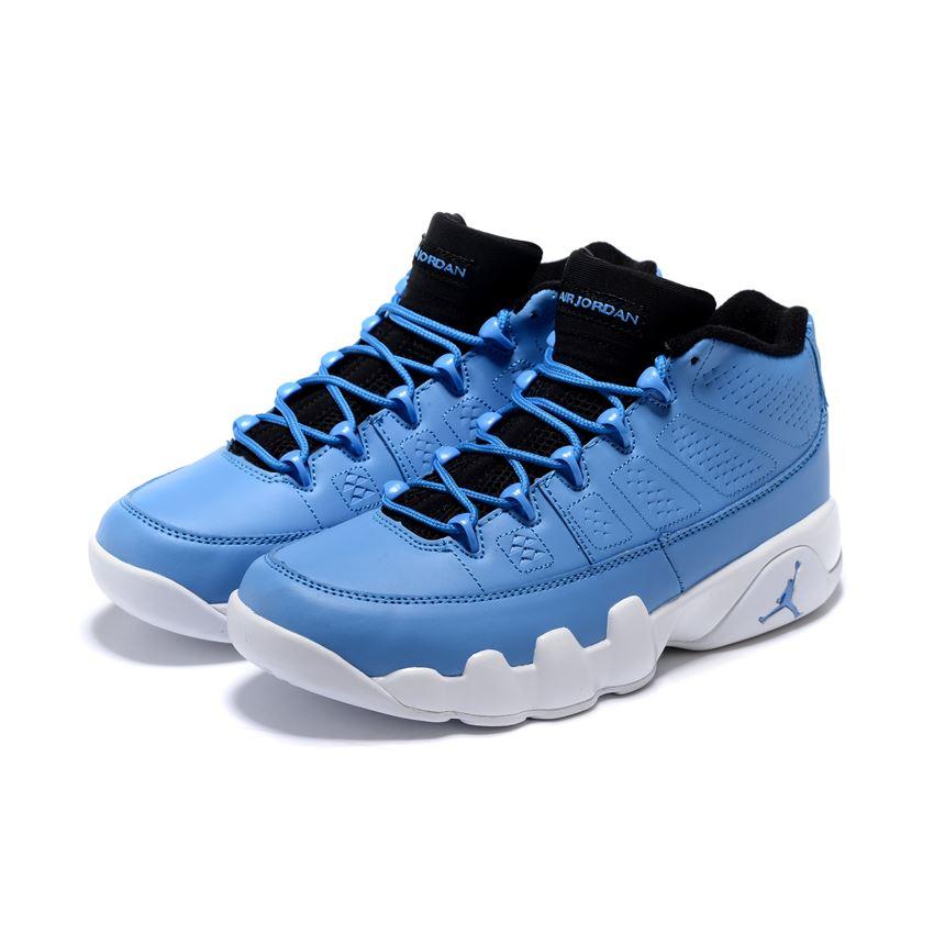 outlet store fd648 d9703 Men s Air Jordan 9 Retro Low Pantone University Blue White-Black For Sale